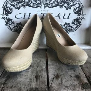 ANA cream wedge. Great shoe with a few scuff marks